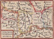 """1602 Antique Map - Rare Miniature Ortelius - Berlin to Prague - """"Saxonia"""""""