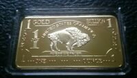 1 OZ Bar 500 Miil .999 Fine Gold Bullion Bar