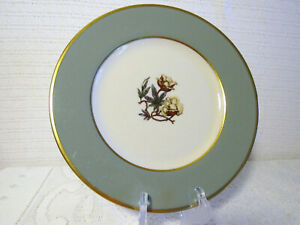 "FLINTRIDGE CHINA AVALON SAGE GREEN USA 8 1/2""d Salad Plates (Set of 2)"