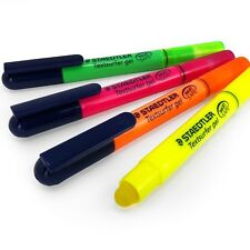 Staedtler Textsurfer Gel Highlighter Pen - 3mm - Pack of 4 - 1 of Each Colour