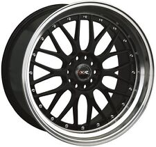 XXR WHEELS 521 18X8.5 18X10 5X114.3 ET35 BLACK STAGGERED WIDE NEW IN BOXES