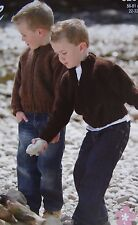 "BOYS~CARDIGAN/JACKET~ZIP-UP~CHUNKY YARN~LARGE PRINT~KNITTING PATTERN 22-32""(K66)"