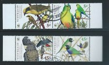 Australia Sc 1675a-78a World Wildlife Fund Endangered Birds Honeyeater etc.