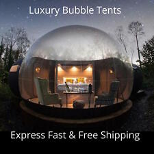 Bubble Tent Inflatable Transparent Clear Dome Outdoor Lawn Camping Blower Kit