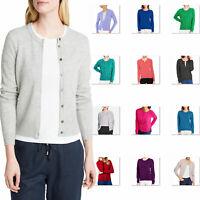 cashmere Cardigan Round Neck women Knitwear wool Sweater winter top size 6-18