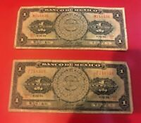 LOT OF TWO VANTAGE BANCO DE MEXICO ONE PESOS ( SAME AS PICTURE )