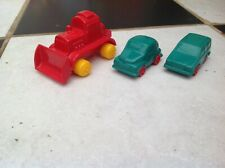 COLLECTION OF VINTAGE VIKING PLAST TOY PLASTIC VOLVO CARS & BULLDOZER SWEDEN