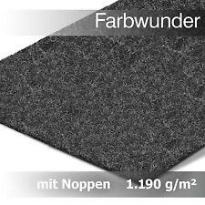 Premium Farbwunder Kunstrasen Rasenteppich mit Noppen in Meterware – Anthrazit
