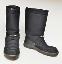 KUOMA Finland Men's Boots Pile Lined Winter Snow Black Size 45 US 12