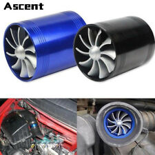 Universal AUTO ACCESSORIES Supercharger Power Air Intake Dual Fan Turbine Parts