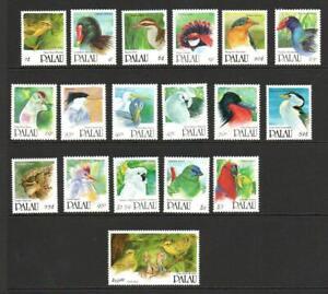 PALAU SG412-429 BIRDS 1991 MNH