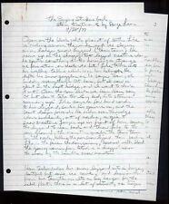STAR WARS REPRO 1977 THE EMPIRE STRIKES BACK HANDWRITTEN STORY TREATMENT NOT DVD