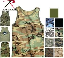 Camo Tank Top Sleeveless Muscle Tee Camouflage Tactical Army Military T-Shirt