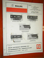 1971 DODGE PLYMOUTH CHRYSLER IMPERIAL PHILIPS RADIO TAPE PLAYER SERVICE MANUAL