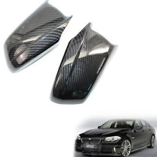 Car Carbon Fiber Look Side Wing Mirror Cover Cap For BMW F10 11-2013 51167216369