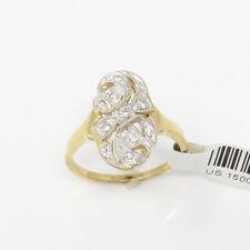 Nyjewel BRANDNEU 14k Solid Gold Filigree Diamant Cocktail Ring