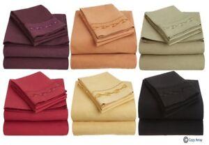 Clara Clark Signature 1600 CHAIN SERIES Deep Pocket Bed Sheet Set - All Sizes.