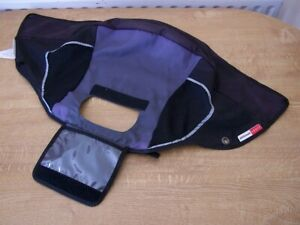 PHIL AND TEDS SPORT V1 BUGGY MAIN HOOD FABRIC GREY/BLACK