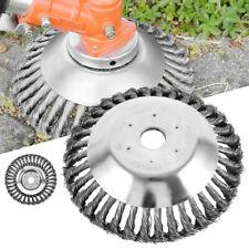 """8"""" Weed Brush Steel Wire Trimmer Wheel Garden LawnMower Grass Cutter Head Tool"""