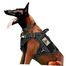 New listing Tactical Dog Harness for Large Dogs, Reflective L+Plastic Buckle Collar Black