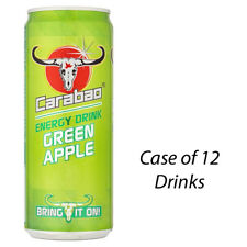 CARABAO ENERGY DRINK GREEN APPLE 330ml CASE OF 12 DRINKS DISCOUNT RETAIL 228886