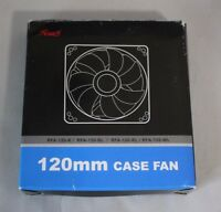 Rosewill Computer Case Fan Red RFA-120-RL 120mm LED Lights Sleeve Bearing Quiet