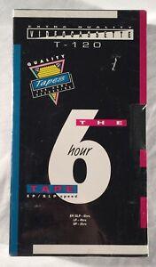 SEALED Video Cassette 6 Hour Premium Grade VHS Blank Tape T-120 EP/SLP New