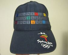 2000 Olympic Games Sydney ALL SPORTING PICTOGRAMS BASKETBALL etc. Hat Cap NICE!!