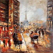 Abstraktes -  Acrylbild Malerei Bild -  Eiffelturm in Paris - von Martin Klein