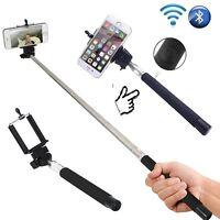 Monopod Selfie Stick Telescopic& Built-in Bluetooth Wireless Remote Phone Holder