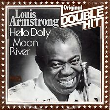 7inch LOUIS ARMSTRONG hello dolly / moon river DOUBLE HIT EX+ GERMAN  (S1956)