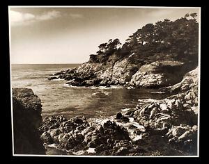 VINTAGE PHOTO PHOTOGRAPH ROCKY CALIFORNIA COAST LANDSCAPE OCEAN HENRY SCHIFFMAN
