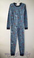 HANNA ANDERSSON Organic Long Johns Pajamas Outdoor Adventure 150 12 NWT