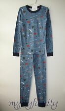 HANNA ANDERSSON Organic Long Johns Pajamas Outdoor Adventure 150 12 NWT