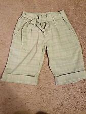 Xhilaration tie-waist shorts plaid junior's 9
