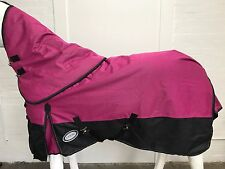 AXIOM 1800D BALLISTIC PINK/BLACK 300g HORSE RUG w/h DETACHABLE NECK  - 5' 9