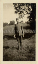 Vintage Male Military - Vernacular Image of Uniform Young Soldier in Countryside