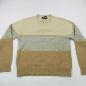 Vintage Jantzen Medium Sweater Made in USA Browns Long Sleeve Cotton Wool