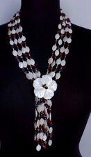 Collana  di 4 fili in pietre dure,madreperla,corniola,ametista con grande fiore