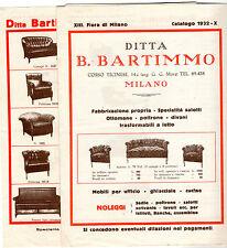 CATALOGO 1932 FIERA DI MILANO BARTIMMO MILANO POLTRONE DIVANI SALOTTI