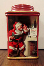 2002 Coca Cola Holiday Canister feat. Santa Claus