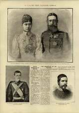 1890 Royal Marriage Berlin Czarevitch On His Travels
