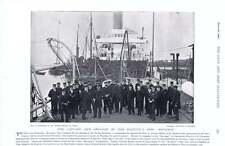 1896 HMS VENDETTA CAPITANO ed ufficiali HMS risoluzione membri dell'equipaggio sul ponte