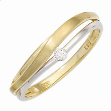 P1 Echte Diamanten-Ringe aus mehrfarbigem Gold mit Brilliantschliff