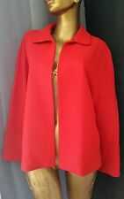 ZARA Basic Red Jacket Bolero Blazer Shirt Sz S Open Front