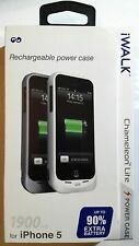NEW iWalk Chameleon Lite 1900mAh Power Case for iPhone 5/5S, Steel Gray