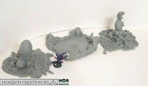 HC3D -WoR Thorn Eggs & Pool- Alien Wargames Miniatures Scenery 40k 28mm 15mm