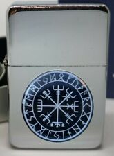 VIKING COMPASS ANCIENT VIKINGS FLIP METAL PETROL LIGHTER