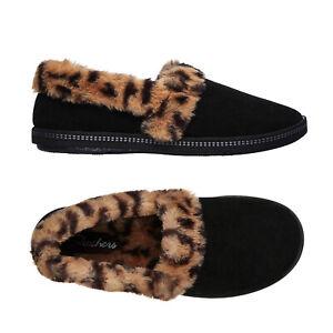 Skechers Womens Cozy Campfire Frisky Gal Leopard Faux Fur Memory Foam Slippers