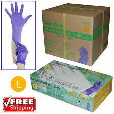 1000pcs 3.5mil Soft Nitrile Powder-free Medical Exam Gloves (Latex Vinyl Free)L